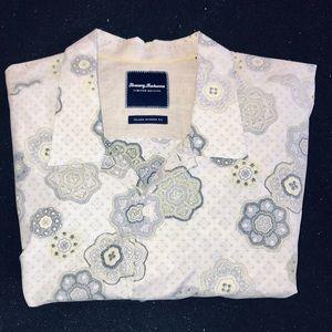 Tommy Bahama Short Sleeve Shirt Silk Blend XXL